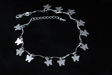 Chain Foot Ankle Bracelet #Ab14 Womens 925 Sterling Silver Butterly Link