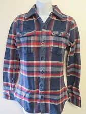 Genuine Superdry Thick Cotton Check Shirt - XS UK 6 Euro 34
