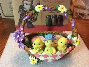 New Yankee Candle 2011 Chicks Easter Basket Double Tea Light Holder Pink Sands