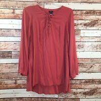 Women's Torrid BOHO/Peasant Style  Long Sleeve, Orange Tunic/Top, Size 1