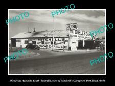 OLD POSTCARD SIZE PHOTO OF WOODVILLE ADELAIDE THE MITCHELLS CAR GARAGE c1950