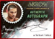 ARROW - Season 3 - J R RAMIREZ as Ted / Wildcat - Cryptozoic Autograph Card JRR