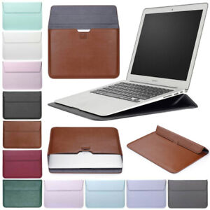 """For MacBook Air Pro 11"""" 12"""" 13"""" 13.3"""" Leather Laptop Bag Sleeve Stand Case Cover"""