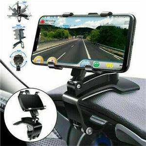 Multifunction 360° Car Dashboard Mount Holder Stand Clamp Cradle Clip for Phone/