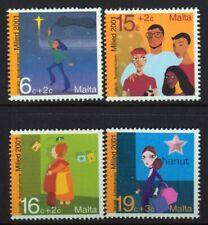 Christmas 2001 set of 4 mnh stamps Malta #B81-4