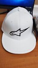ALPINESTARS Ageless Flat bill FLEXFIT HAT White/Black Logo Large/X Large