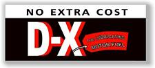 """(DX-ADD-1) 12.5"""" x 5"""" DX D-X GAS PUMP NO EXTRA COST ADD GLASS DECAL CUT TO FIT"""