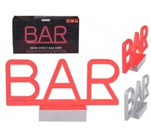 Neon Bar Sign 3D Lamp - Red Bar Light Night Light