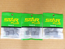 Star Female Battery Connector Plug Lot of 3 Pkgs Deans Compatible New HCAM4021