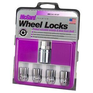 McGard 24154 Chrome Cone Seat Wheel Lock Set (M12 x 1.25 Thread Size); Set of 4