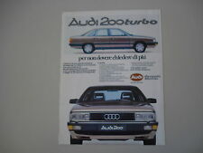 advertising Pubblicità 1984 AUDI 200 TURBO