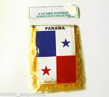 PANAMA MINI POLYESTER INTERNATIONAL FLAG BANNER 3 X 5 INCHES