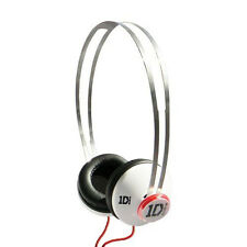 Genuine One Direction Cuffie Bianco con snapcaps 1D In Ear Cuffie