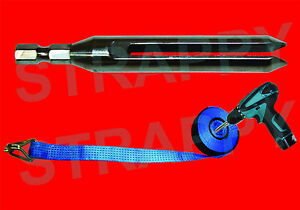 STRAPPY TIE DOWN STRAP WINDER TOOL  * HAND-HELD *PORTABLE ****THE ORIGINAL***