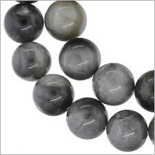 "15.8"" Grey Hawk's Eye Round Beads 10mm #81065"
