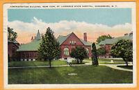 Ogdensburg NY Postcard - State Insane Hospital Asylum