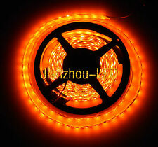 5M 3528 Orange LED 60LED/M Flex Super Bright Waterproof 300 Led Strip Light 12V