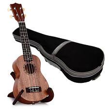 """TOKKY 21"""" Soprano Ukulele Uke Sapele 15 Frets Hawaii Wood Instruments With Bag"""