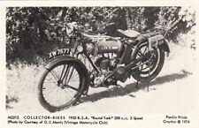 Carte MOTO motocyclette B.S.A 1925 round tank 250 CC COLLECTOR-BIKES
