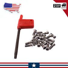 20pcs M35x10mm Alloy Steel Torx Screws For Replaces Carbide Insert Cnc Lathe