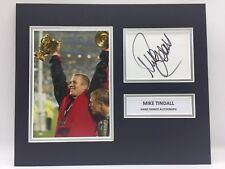 RARE Mike Tindall England Rugby Signed Photo Display + COA AUTOGRAPH 2003 RWC