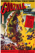Vintage Science Fiction Movie Poster Godzilla King of the Monsters