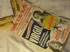 Antique Vintage Original Magic Props Poster Tickets Virgil Magician Collectibles