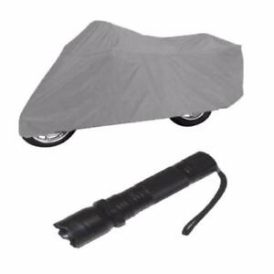 Waterproof Multipurpose Motorcycle Cover with Rechargeable Flashlight