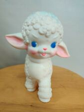 1955 Baby Toy Lamb Squeaky The Sun Rubber co. Works! EXC Cond