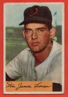 1954 Bowman #101 Don Larsen VG Crease ROOKIE RC St. Louis Browns FREE SHIPPING