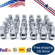 24x Stainless Lug Nuts For Ford F150 Expedition Navigator 14x2 Car Parts Tires