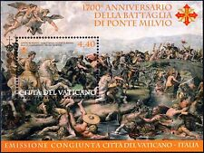 Vatikan Vaticano 2012 Block 38 Milvische Brücke ** BATTAGLIA DI PONTE MILVIO MNH