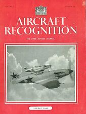 AIRCRAFT RECOGNITION JOURNAL AUG 43: AC of RED AF/ Me.109/ TYPHOON/ Fw.190/SHIP