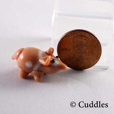 Mini Glass Guinea Pig Animal Figurine Pet Tan White Swirl Mammal Small Ganz New