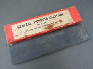 Natural slate grey sharpening water razor hone stone oilstone in original box