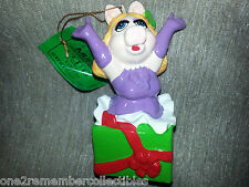 MISS PIGGY 1981 Vintage Keepsake CHRISTMAS ORNAMENT Jim Henson THE MUPPETS New