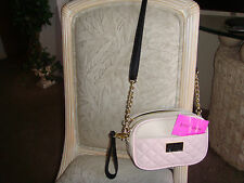 """AUTHENTIC """" BETSEY JOHNSON """" XBODY WING QUILT 2 ENTRY CAMRA BLUSH  """"  BAG"""