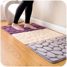Bathroom Mat Memory Foam Rug Coral Fleece Carpet Small Soft Non Slip Bath Rug