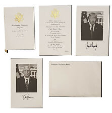Donald Trump Congressional Inaugural Invitation And Program With Photos 2017