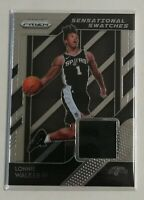 2018-19 Panini Prizm Sensational Swatches Lonnie Walker IV Jersey RC #86 Spurs