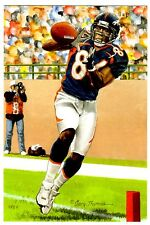 Shannon Sharpe UNSIGNED Pro Football Hall of Fame 4x6 Goal Line Art  2011