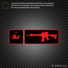 AR15 Element Periodic Table Red Sticker Die Cut Decal ar 15 2a 2nd
