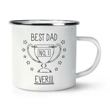 Best Dad Ever No.1 Retro Enamel Mug Cup - Funny Father's Day Camping