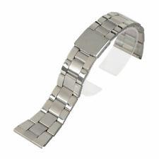 tamaños de extremo recto acero inoxidable sólidos enlaces reloj pulsera correa