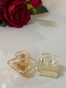 2 miniatures -Tresor lancome 4 ml left edp & chloe   edp 5 ml
