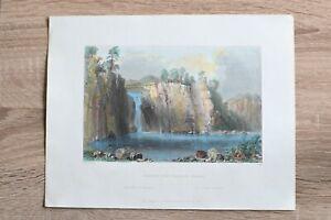 1839 Bartlett print NORTHUMBERLAND, SUSQUEHANNA RIVER, PENNSYLVANIA (#33)