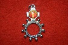 Réf 34 Dizainier métal Sacré-Coeur de Jésus chapelet rosaire scout prière KTO