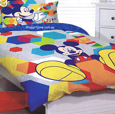 Mickey Mouse - hexagons Disney - Single/US Twin Bed Quilt Doona Duvet Cover set