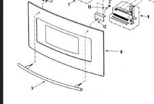 GRLPAL) JENN AIR BUILT IN MICROWAVE HANDLE PART # 53001222