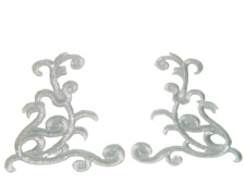 1 Paar Lurex Silber Applikationen Patch Medieval?Mittelalter?ArtNr:17-5S
